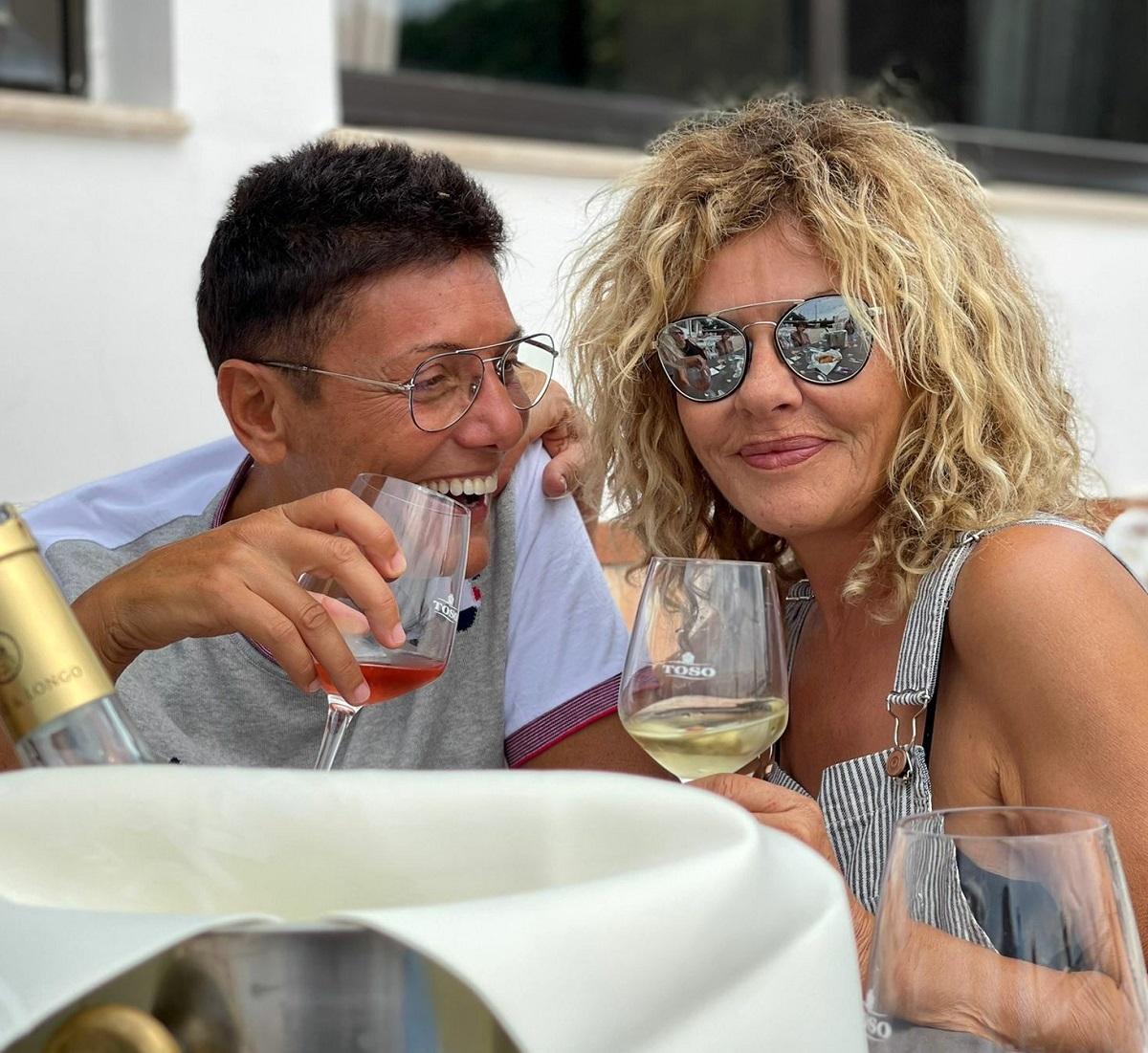 Eva Grimaldi Imma Battaglia sorpresa compleanno 60 anni