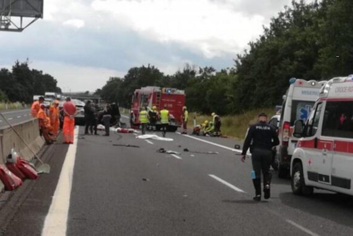 Incidente E78 Arezzo morta Diana Cuseri