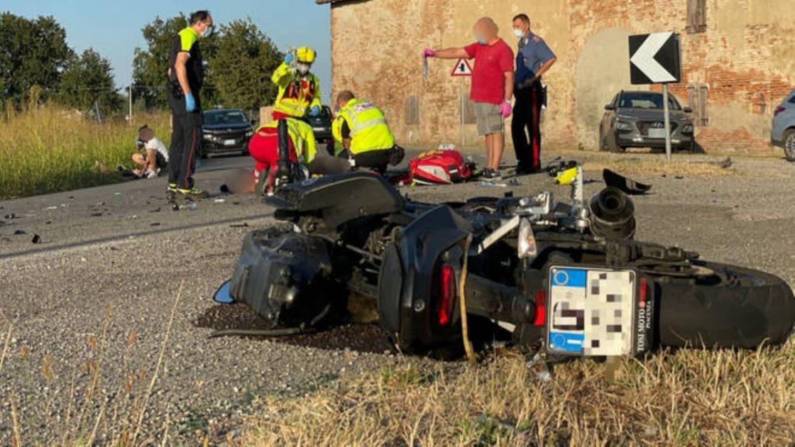 Incidente Pontenure Moto Morto Alessio Saponaro