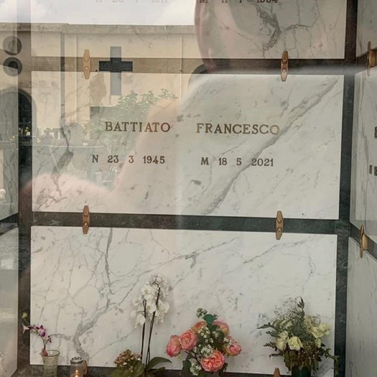 Morgan tomba Franco Battiato correzione nome lapide