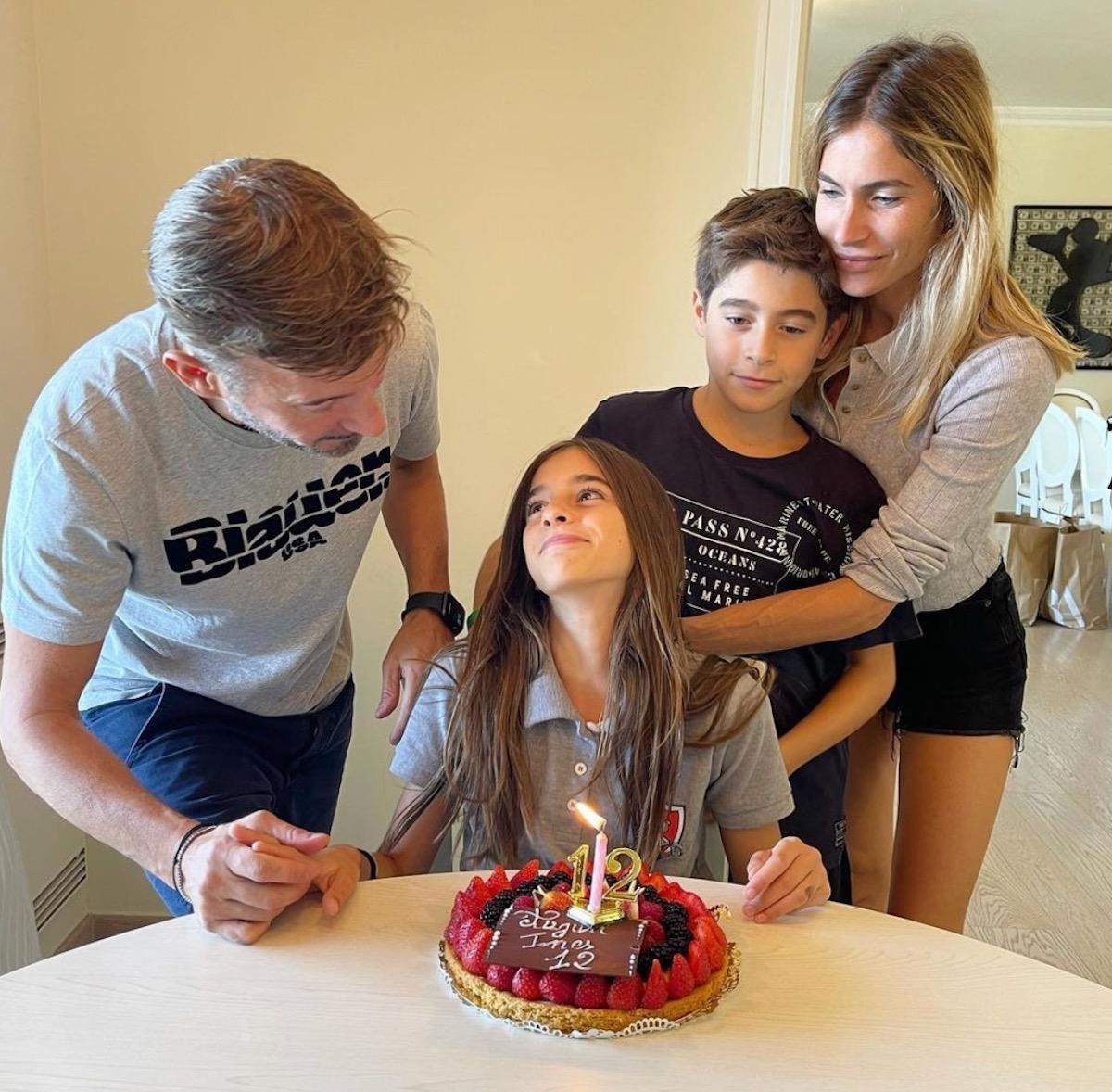 eleonora pedron max Biaggi figlia Ines compleanno