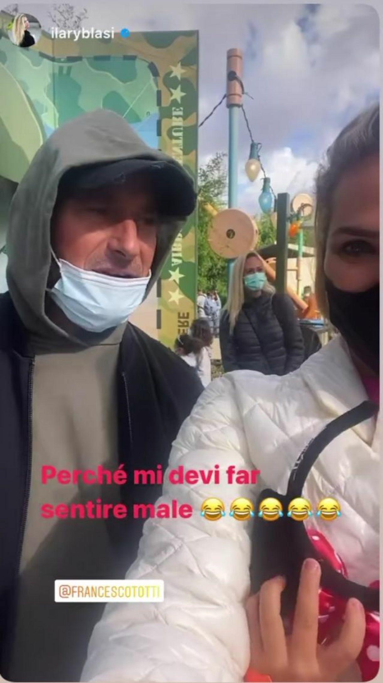 Francesco Totti giostra disneyland