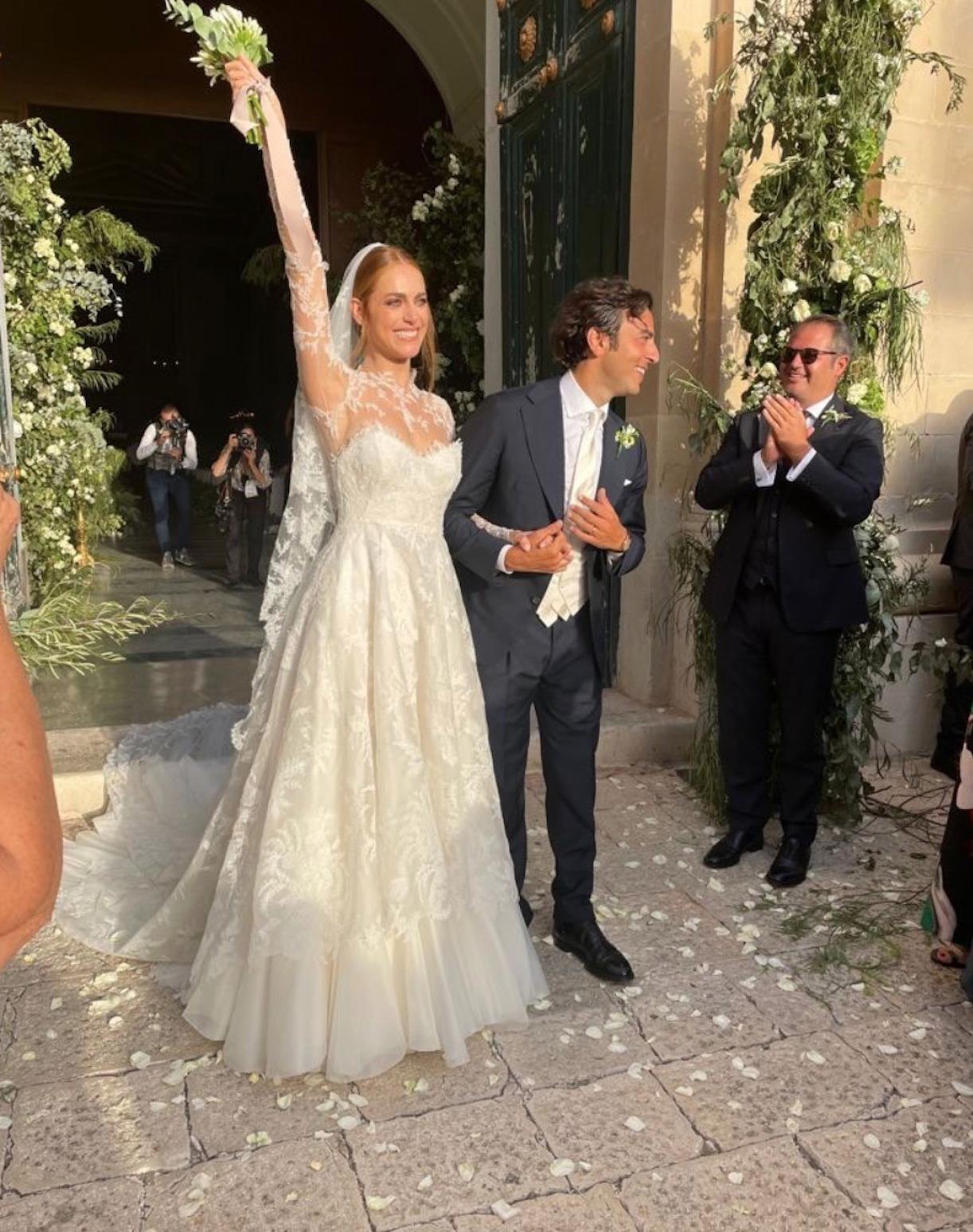 Miriam Leone sposa foto matrimonio
