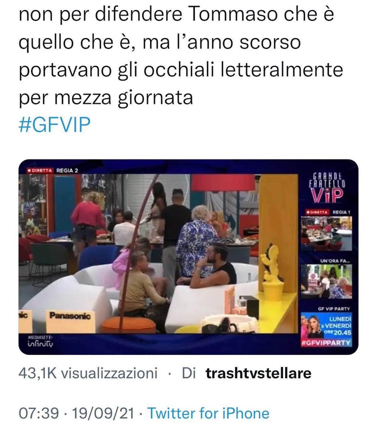Tommaso Eletti gf vip 6 occhiali