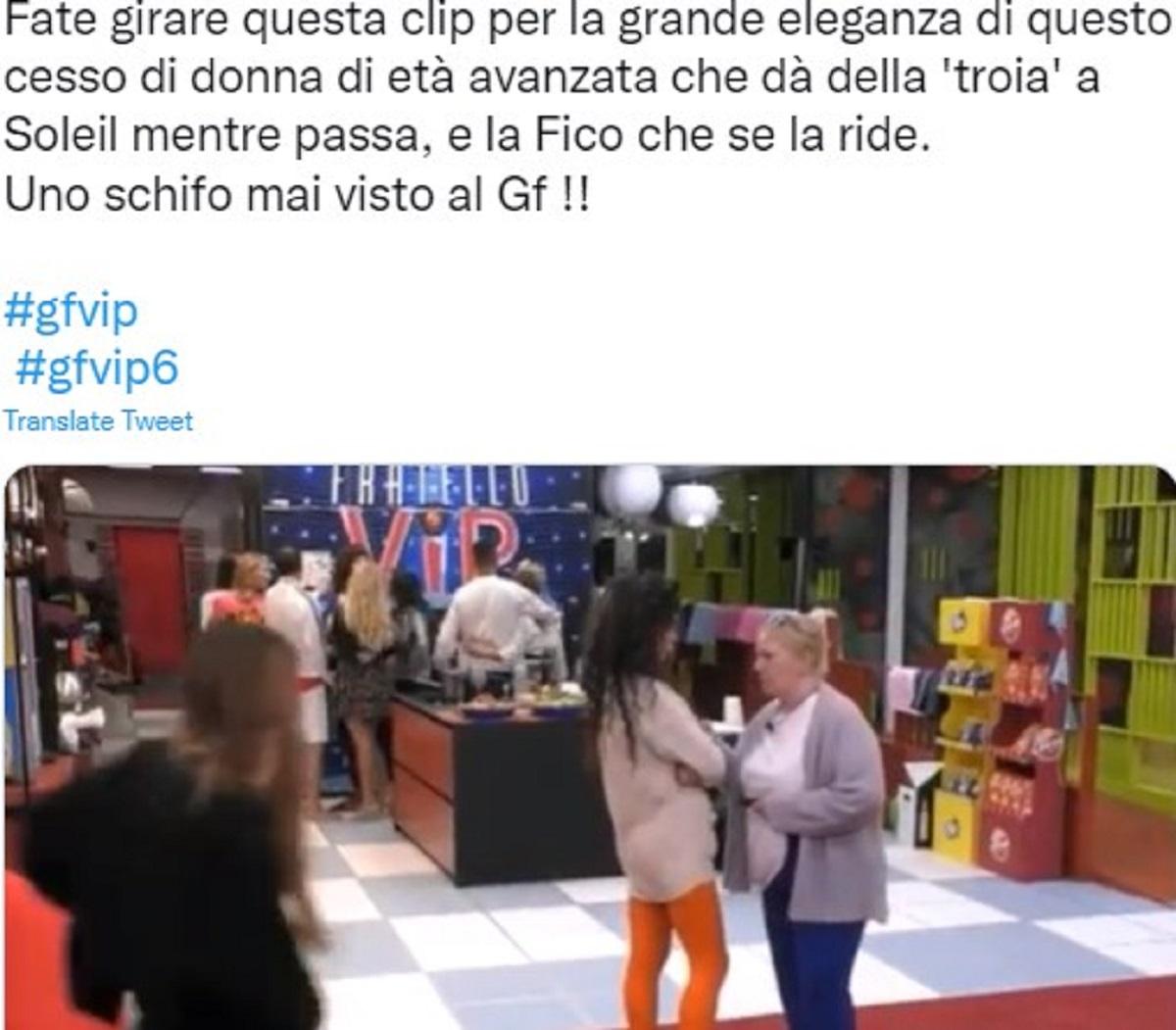 Katia Ricciarelli GF Vip 6 offesa Soleil Sorge equivoco