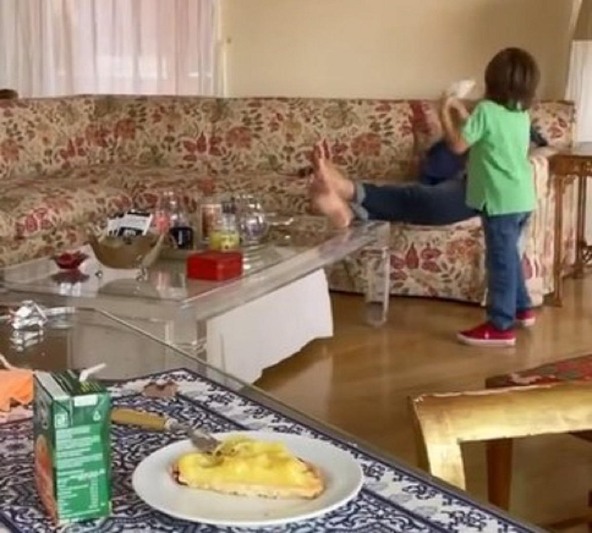 Mara Venier festa nonni video nipote claudietto