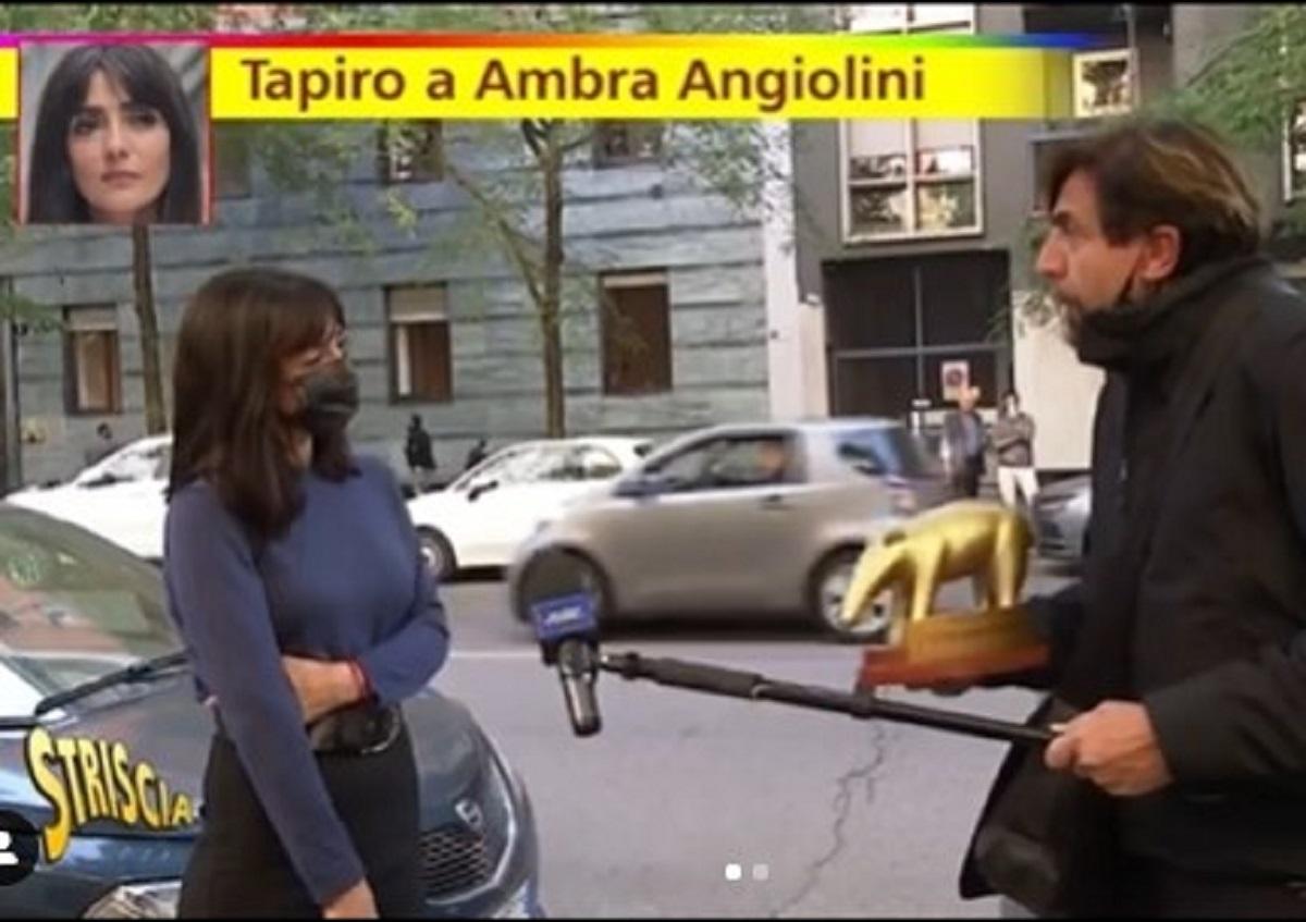 Ambra Angiolini e il Tapiro, arriva la replica di Striscia la Notizia. E svela anche i retroscena del servizio