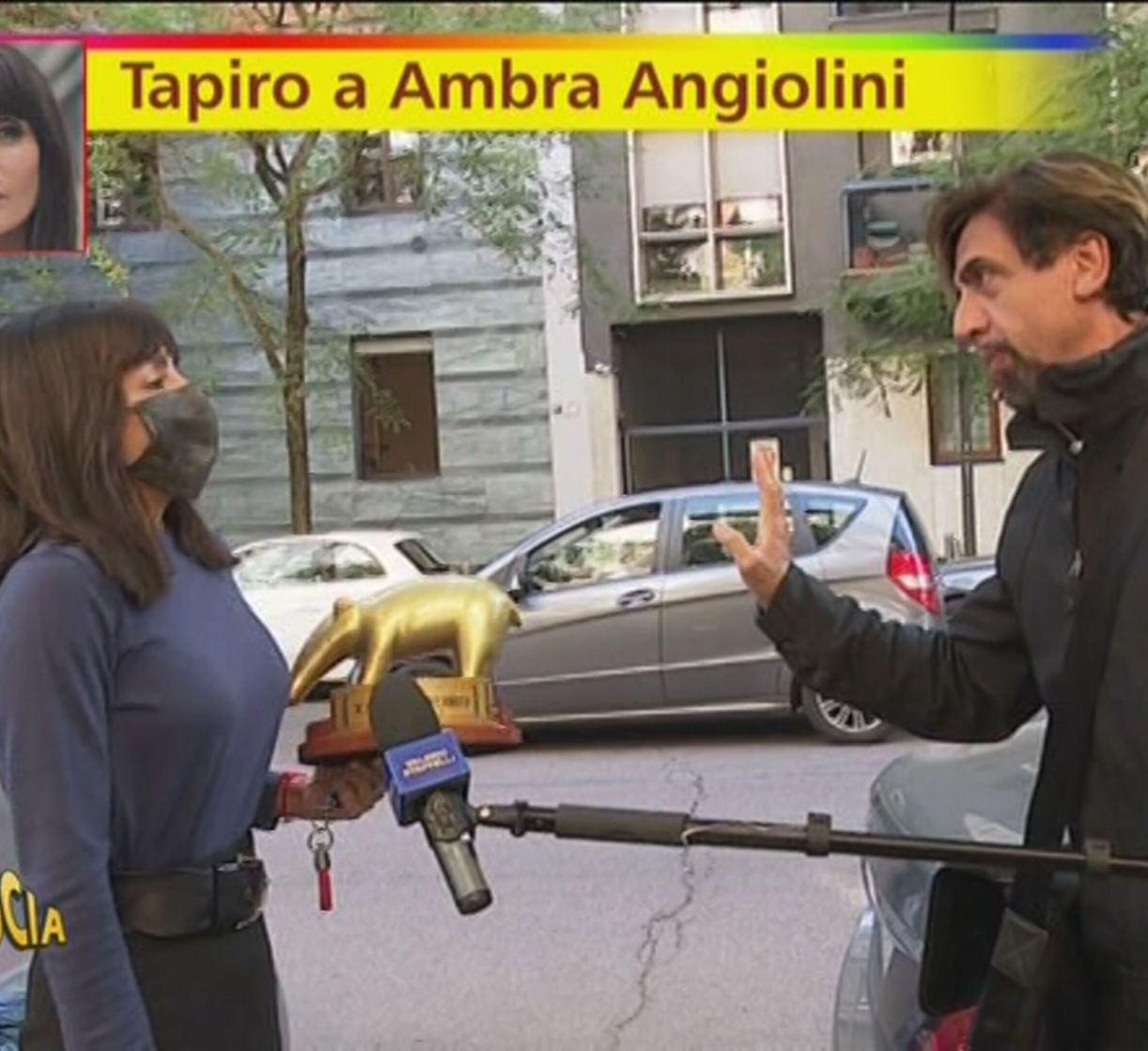 Ambra Angiolini tapiro imbarazzo