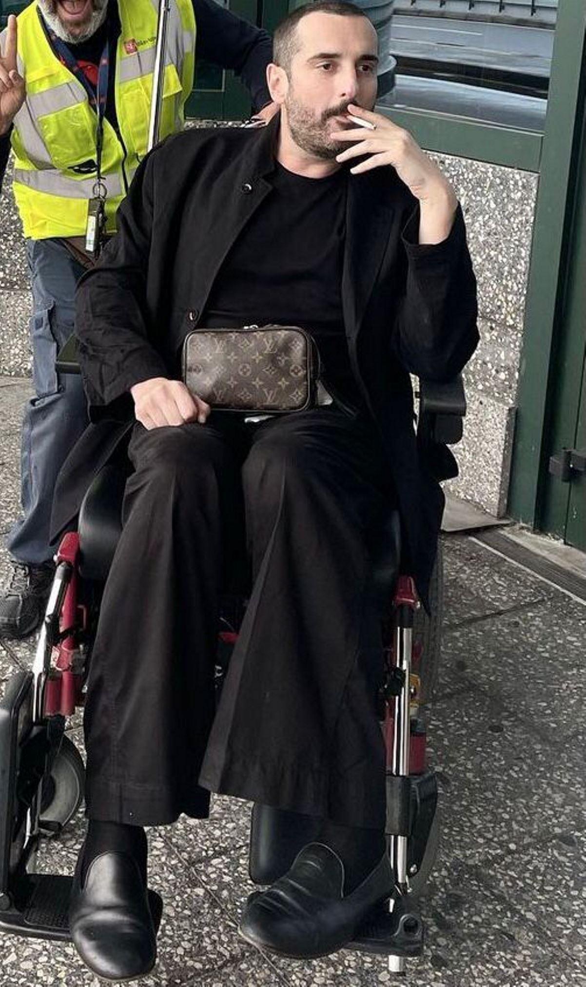 Costantino Della Gherardesca sedia a rotelle