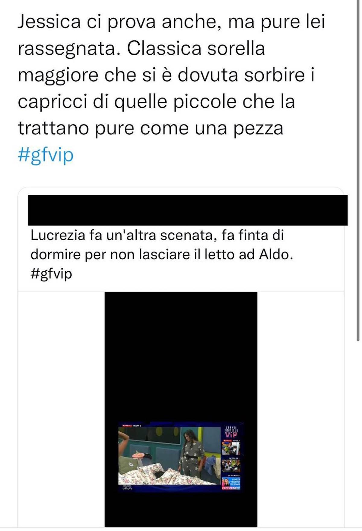 lulù selassié manuel bortuzzo notte gf vip 6