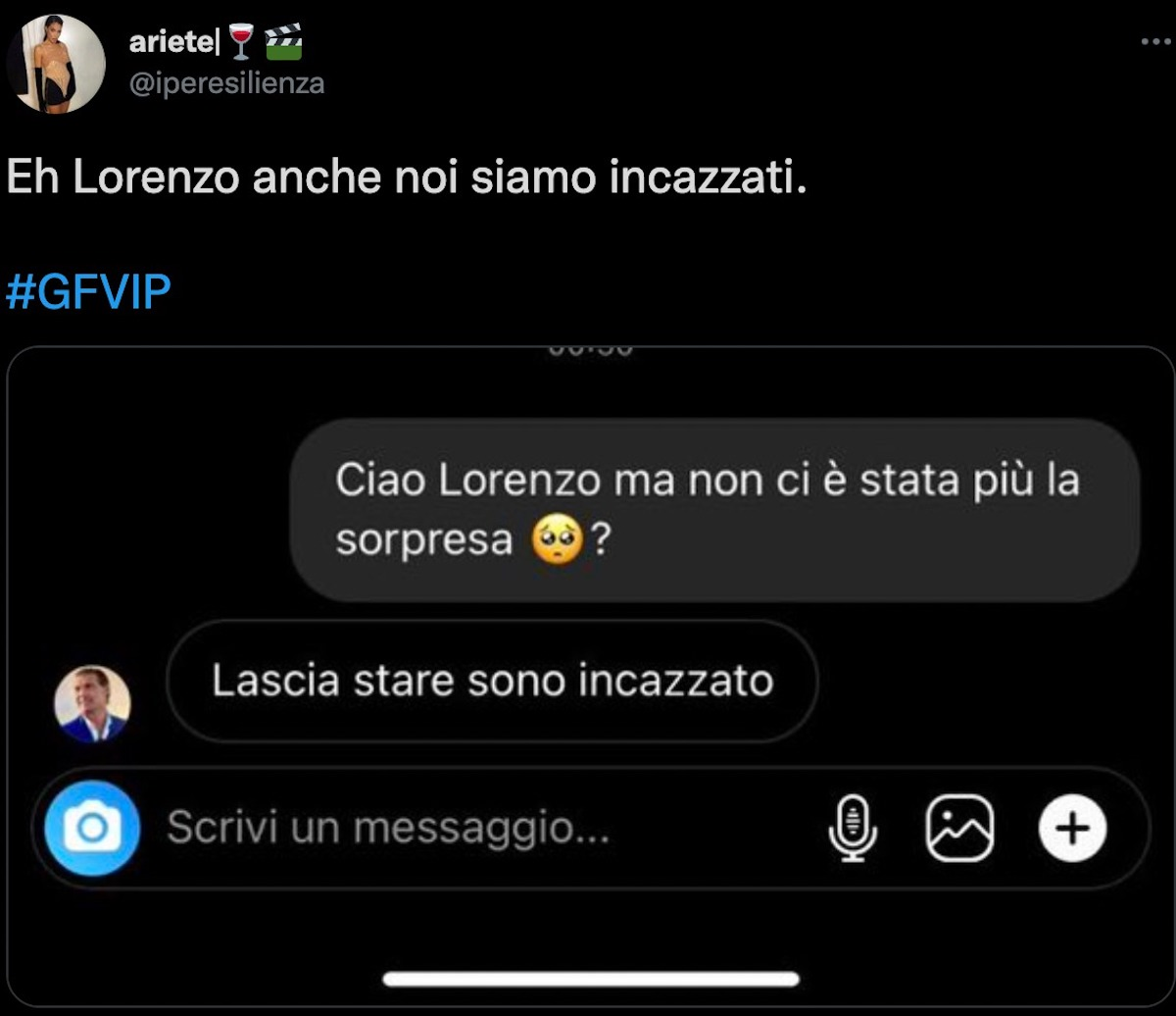 manila nazzaro sorpresa gf vip 6 lorenzo amoruso